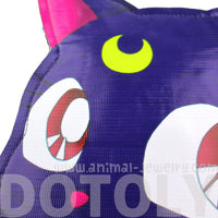 Sailor Moon Luna Cat Face Shaped Vinyl Cross Body Bag