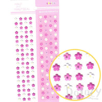 Sakura Flowers Shaped Floral Puffy Flat Paper Stickers