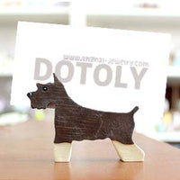 Schnauzer Shaped Animal Dog Lover Photo Stand Business Card Holder