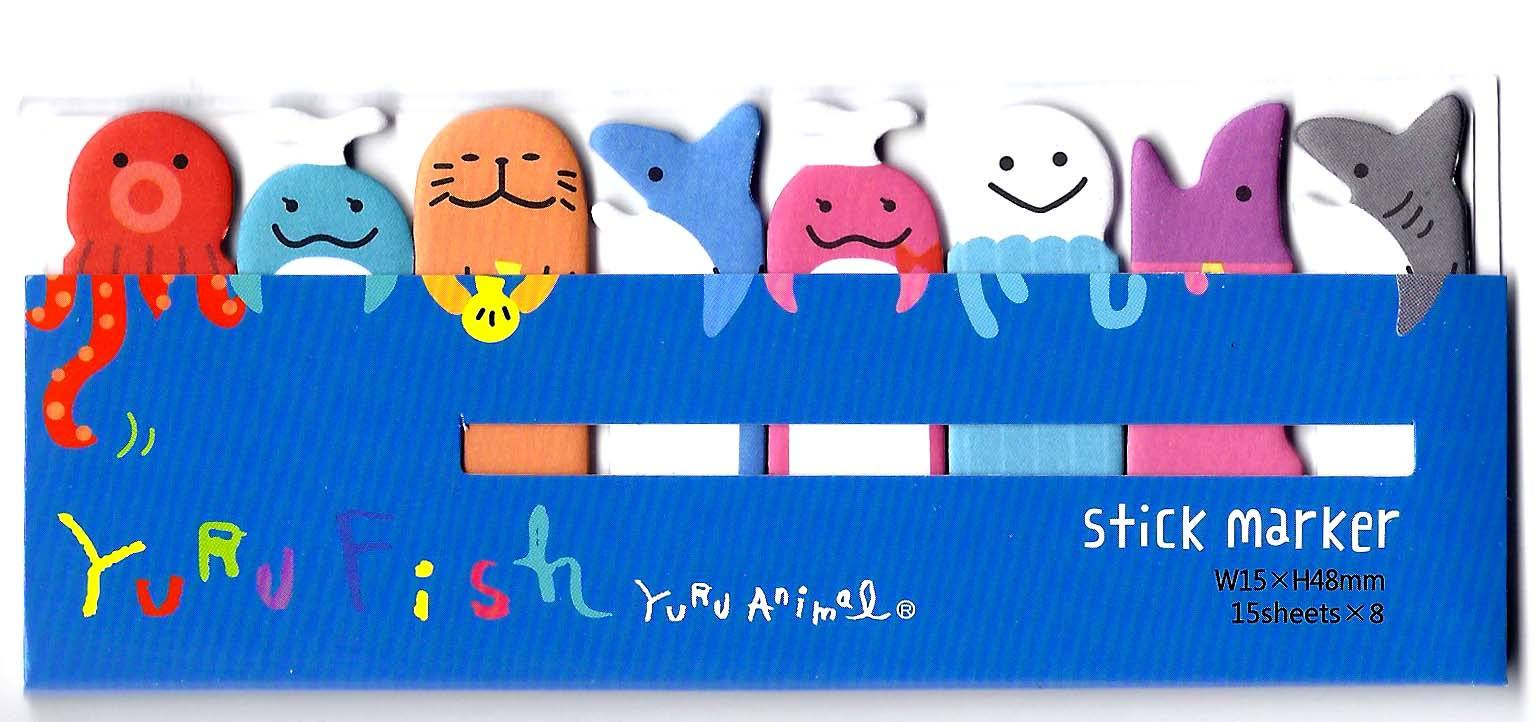sea-creatures-themed-shark-octopus-whale-memo-pad-post-it-index-tab-sticky-bookmarks