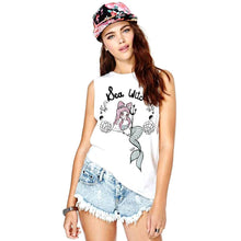 Sea Witch Gothic Mermaid Graphic Tee Vest in White | DOTOLY