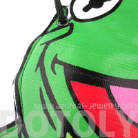 Sesame Street Kermit the Frog Muppet Shaped Vinyl Print Cross Body Bag | DOTOLY | DOTOLY
