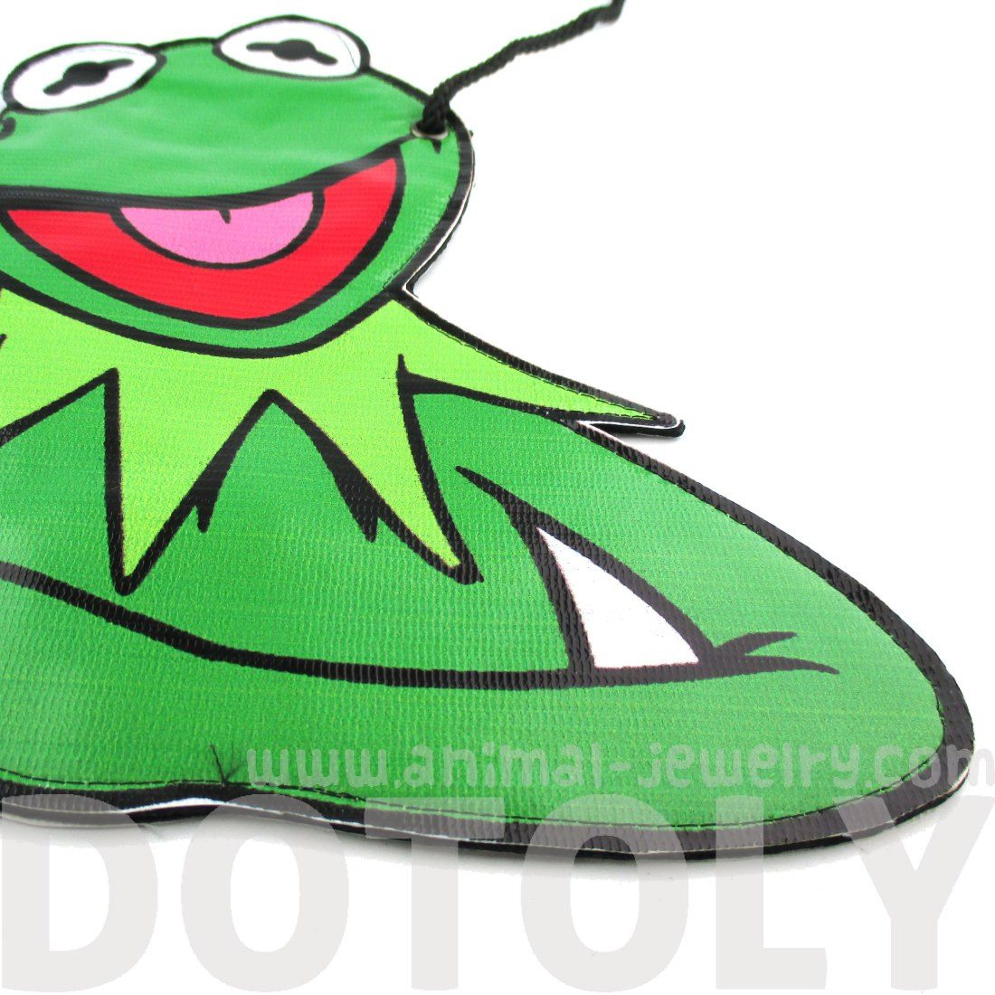 The Muppets Show Kermit the Frog Shaped Vinyl xBody Bag