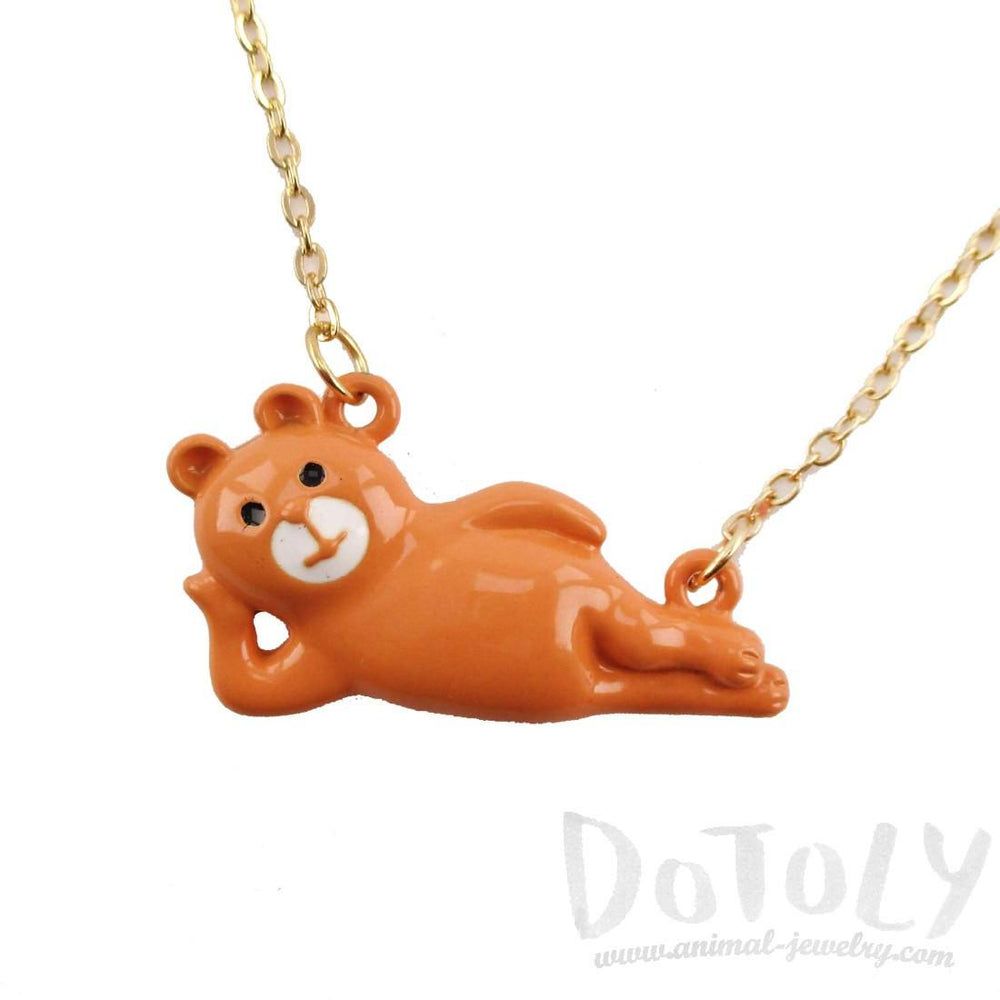 Sexy Pose Teddy Bear Shaped Animal Pendant Necklace