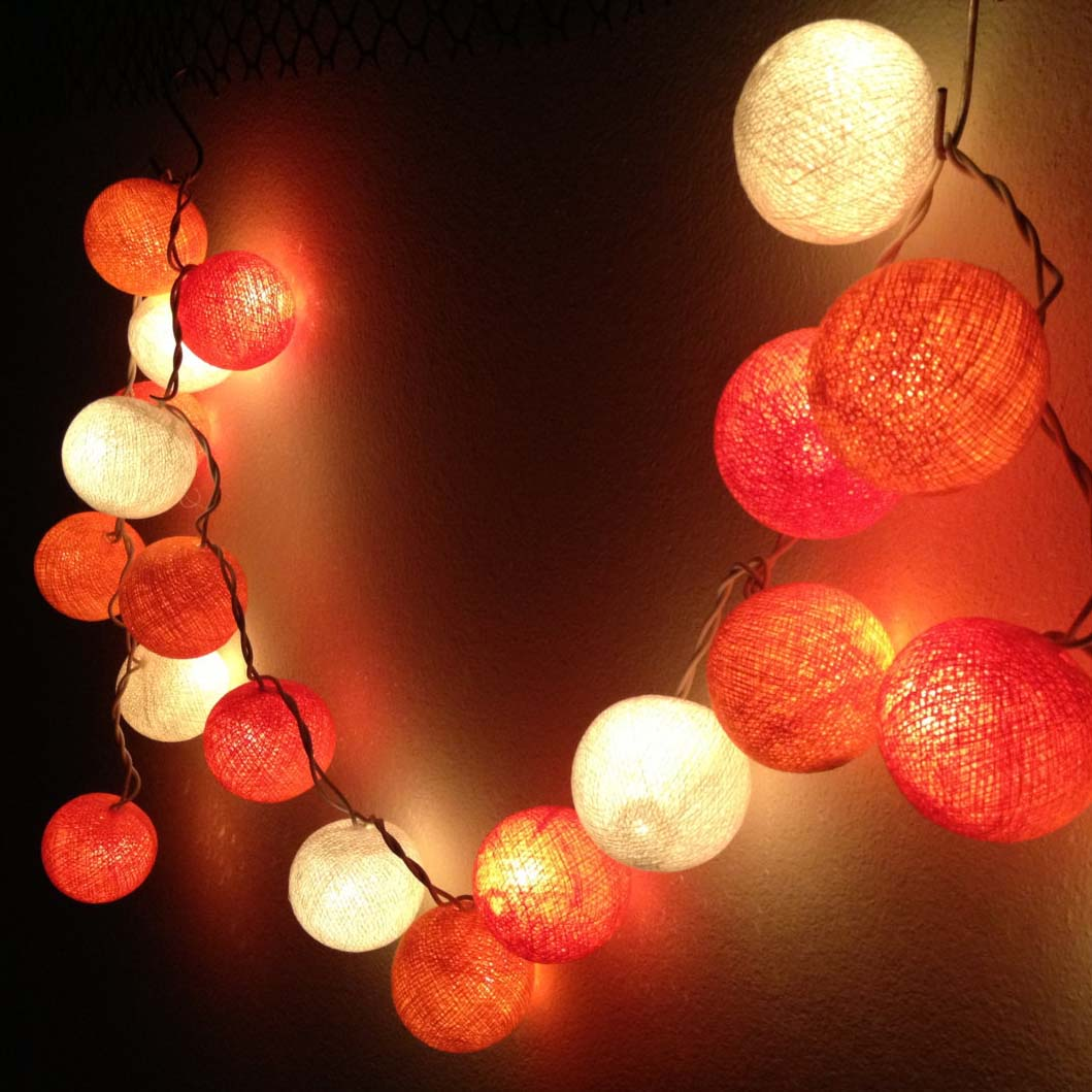 shades-of-orange-round-cotton-ball-handmade-string-lights