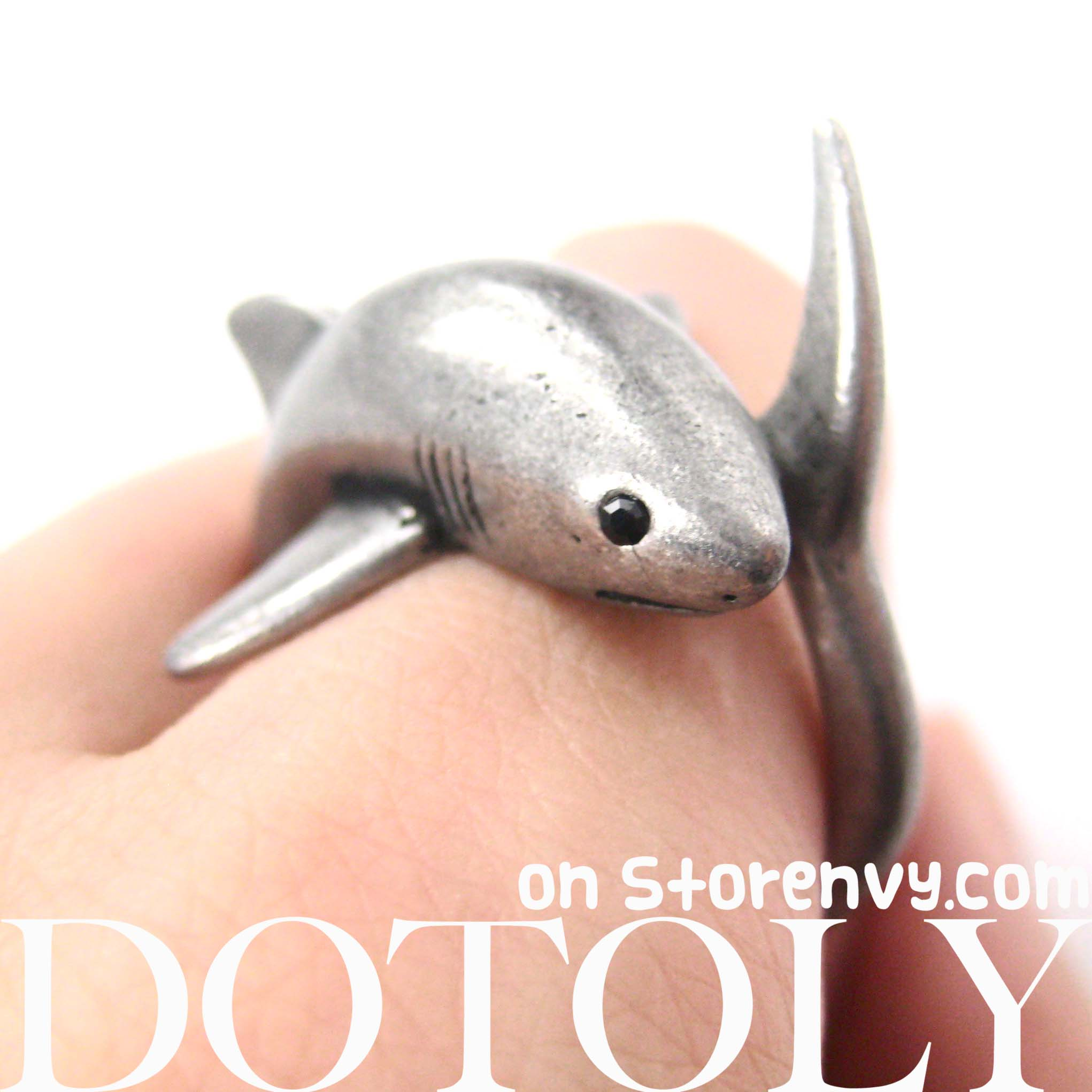 shark-sea-animal-wrap-ring-silver