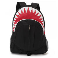 Shark Shaped Animal Shark Week Inspired Gym Rucksack Backpack in Black