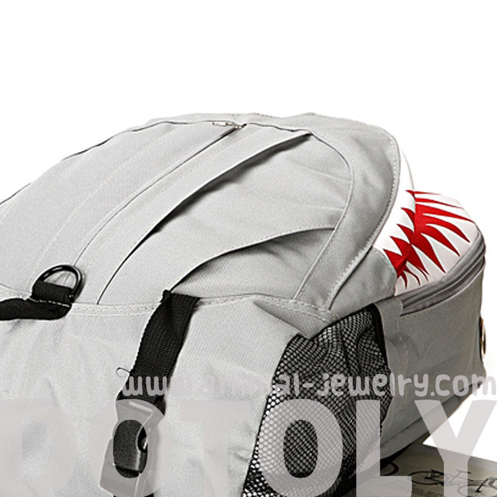 Shark Shaped Animal Shark Week Inspired Gym Rucksack Backpack in Grey