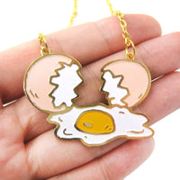 Shattered Broken Egg Shaped Pendant Necklace | Limited Edition | DOTOLY