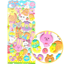 Sheep Bear Bunny and Squirrels Shaped Puffy Stickers