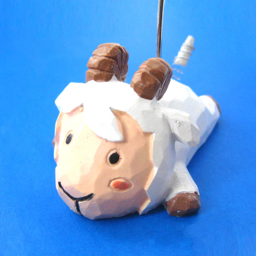 Sheep Ram Cute Animal Photo Stand Memo Holder | Home Decor | DOTOLY