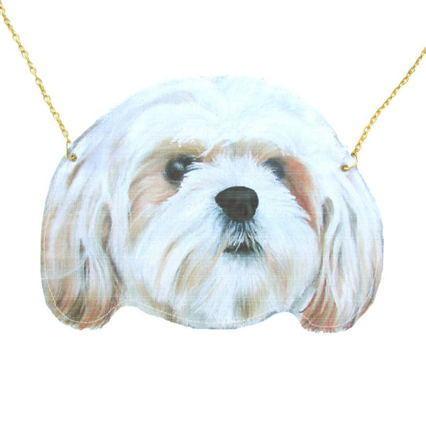 Shih Tzu Puppy Dog Face Shaped Animal Themed Vinyl Cross Body Shoulder Bag | DOTOLY