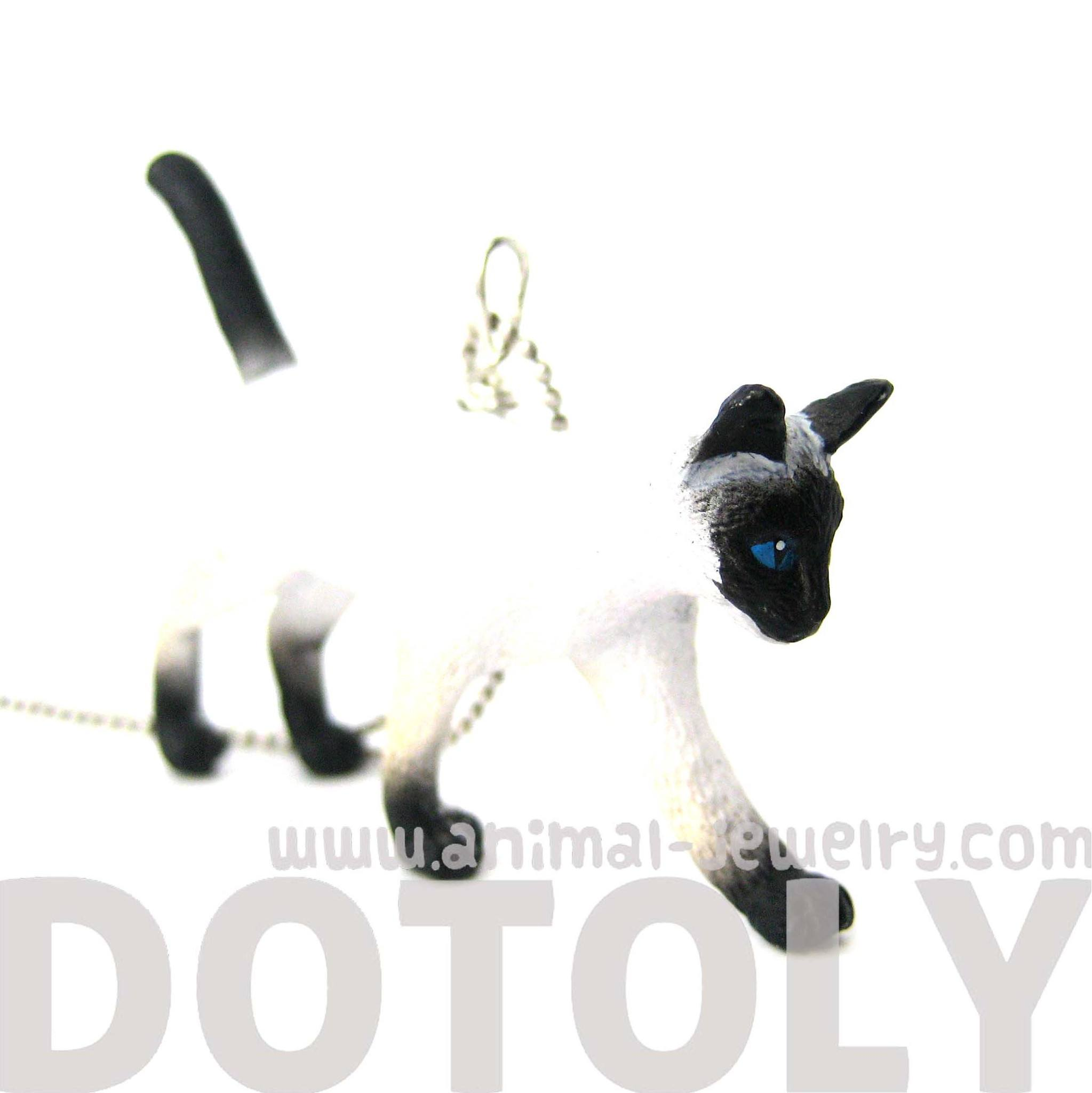 Home > Products > Siamese Kitty Cat Animal Plastic Pendant Necklace