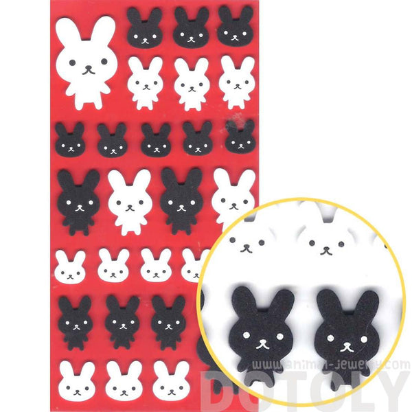 Simple Bunny Rabbit Animal Shaped Foam Plastic Decorative Stickers