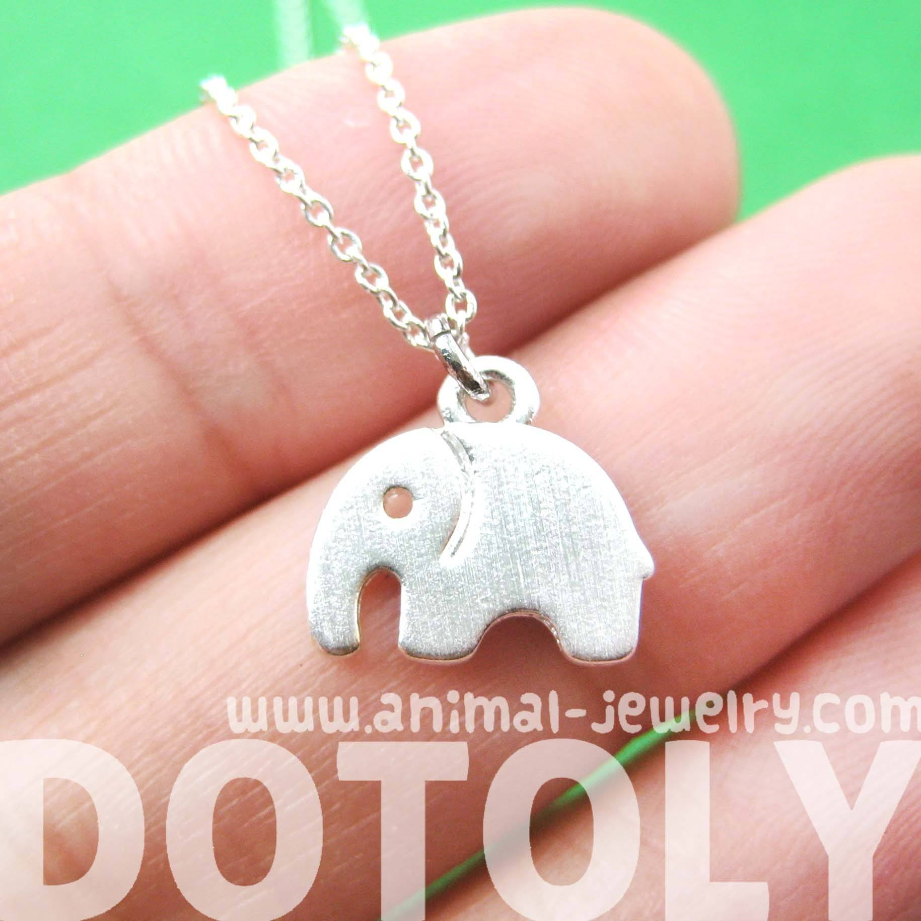 simple-elephant-shaped-abstract-animal-charm-necklace-in-silver-dotoly
