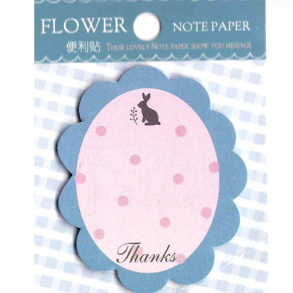 Simple Frame Shaped Bunny Rabbit Memo Post-it Sticky Note Pad
