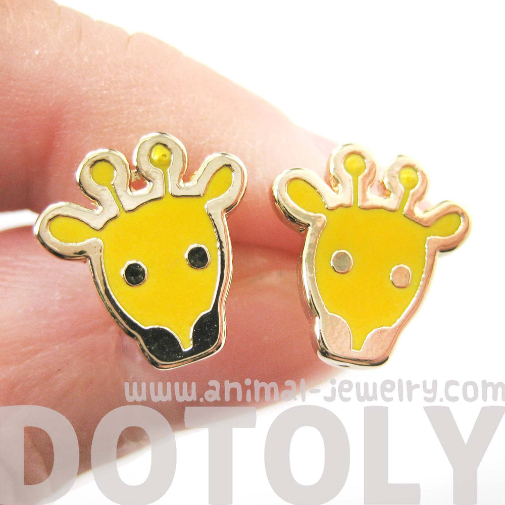 simple-giraffe-shaped-animal-stud-earrings-in-yellow-dotoly