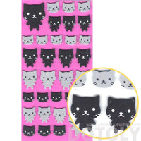 Simple Kitty Cat Animal Shaped Foam Plastic Stickers for Scrapbooking and Decorating | DOTOLY