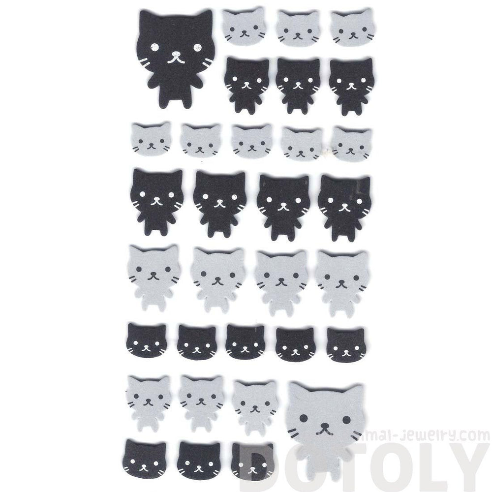 Simple Kitty Cat Animal Shaped Foam Plastic Stickers for Scrapbooking
