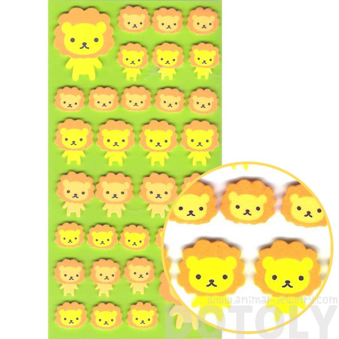 Simple Lion Animal Shaped Foam Plastic Stickers for Scrapbooking