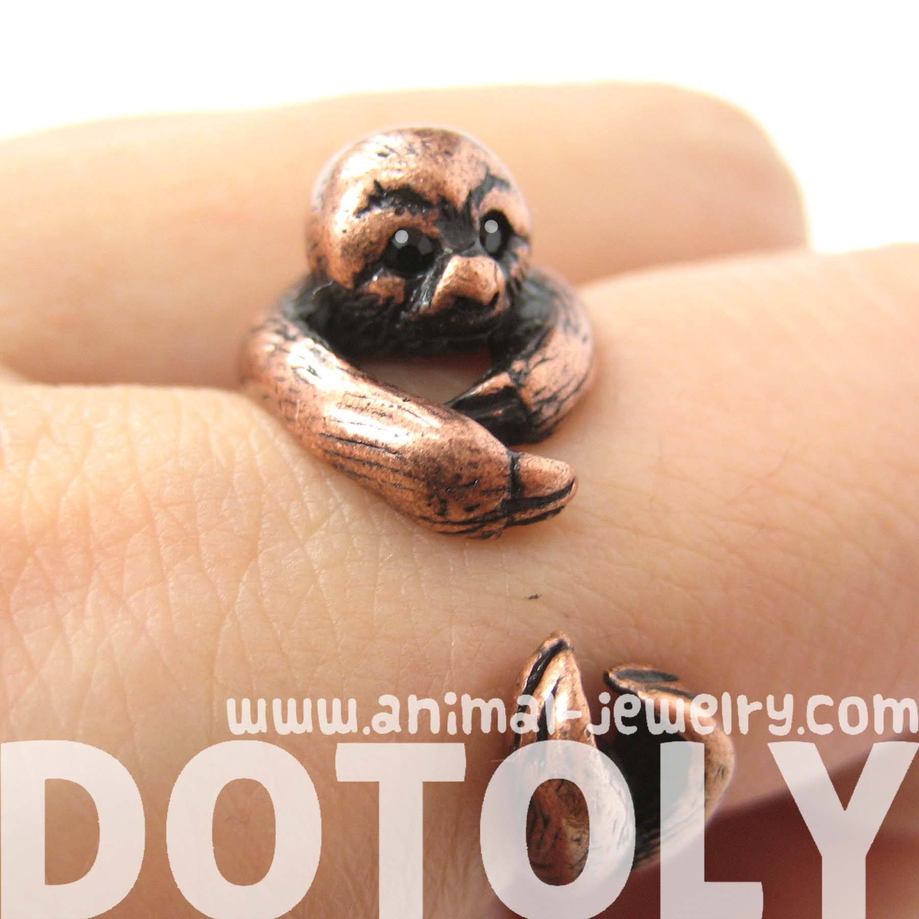 sloth-animal-wrap-around-hug-ring-in-copper-sizes-4-to-9-available