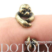 sloth-animal-wrap-ring-in-brass