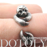 sloth-animal-wrap-ring-in-silver