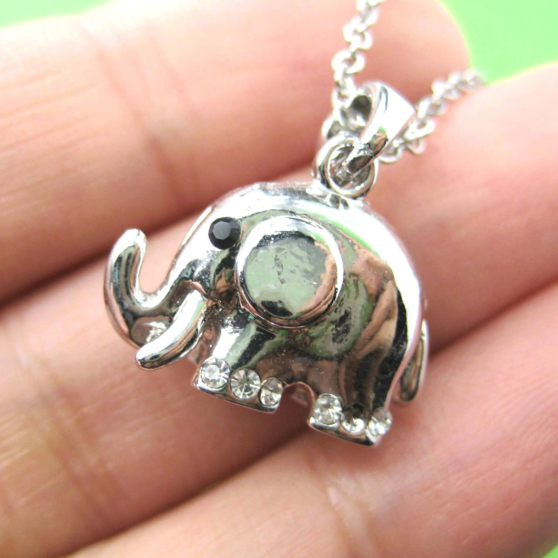 small-elephant-animal-charm-necklace-in-silver-animal-jewelry