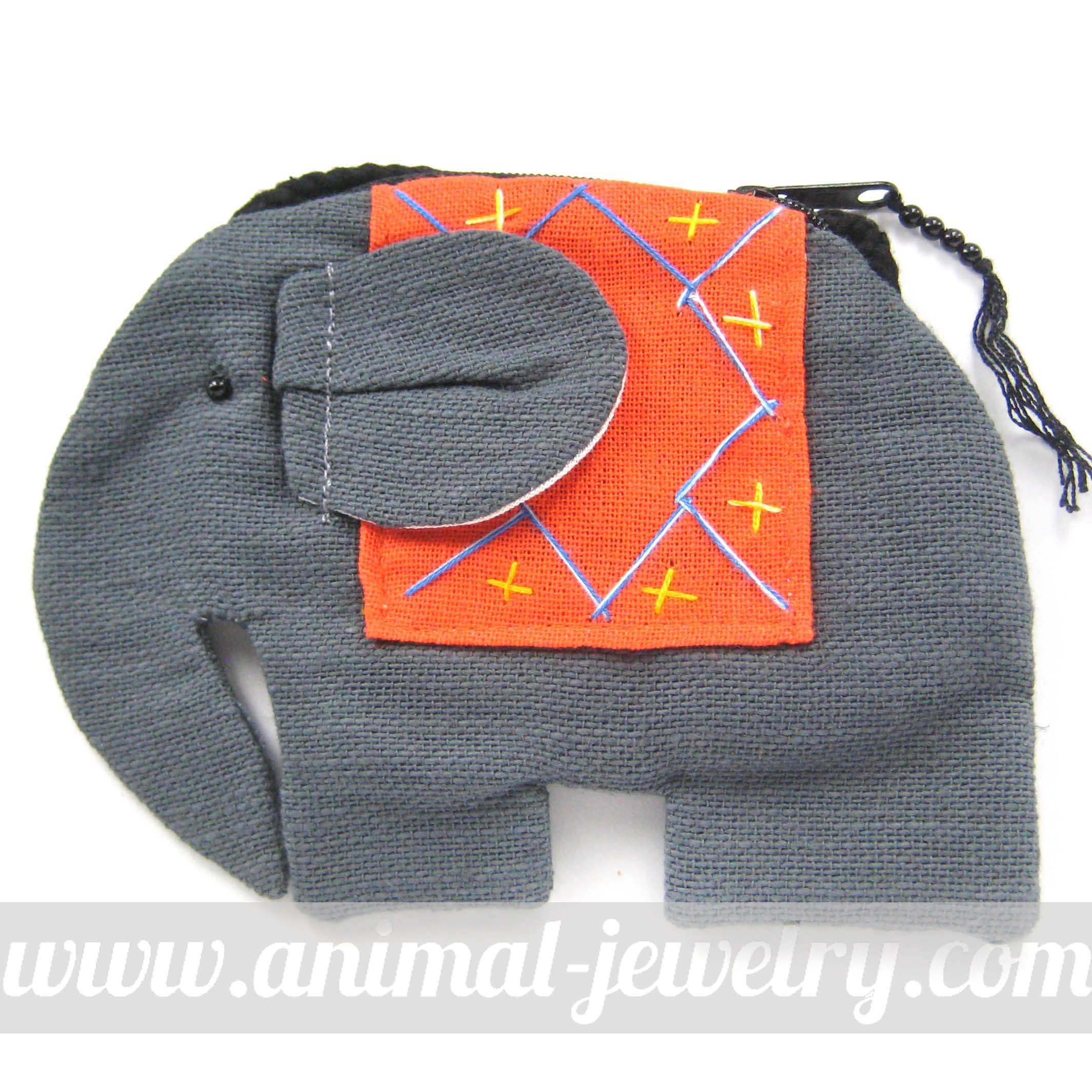 Small Elephant Shaped Animal Cross Body Bag in Grey
