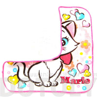 Small Marie Aristocats Cat Heart Print Handkerchief Disney Face Towel