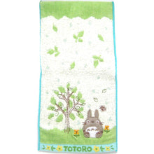 Small My Neighbor Totoro Embroidered Bath Wash Scrub Towel in Green