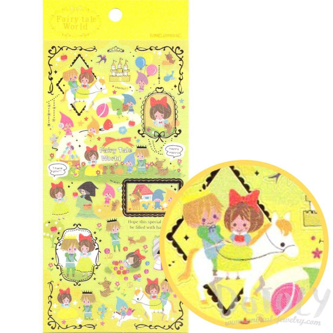 Snow White Princess Fairytale Storybook Themed Stickers