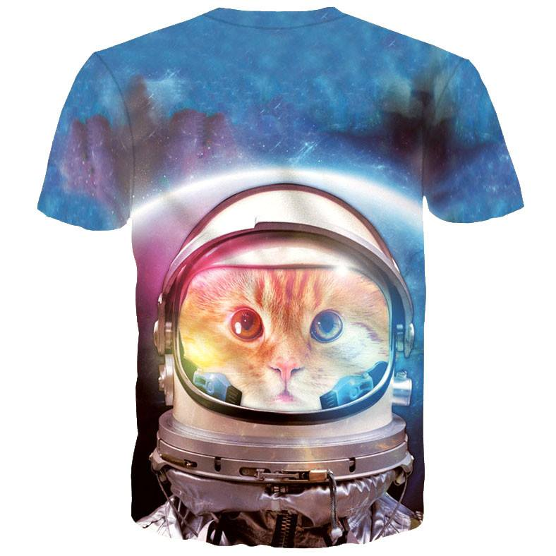 Space Cat Astronaut Kitten Galaxy Universe Print Graphic Tee | DOTOLY