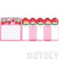 Strawberry Shortcake Girls Shaped Cute Memo Post-it Sticky Index Tabs