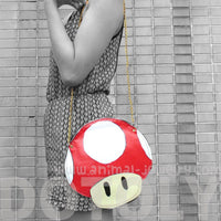 Super Mario Mushroom Power Up Shaped Vinyl Cross Body Shoulder Bag