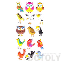 super-puffy-owls-seagull-pelican-bird-themed-animal-shaped-stickers-for-scrapbooking