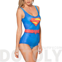 Supergirl Print Scoop Neck Sleeveless Bodysuit for Women | DC Comics
