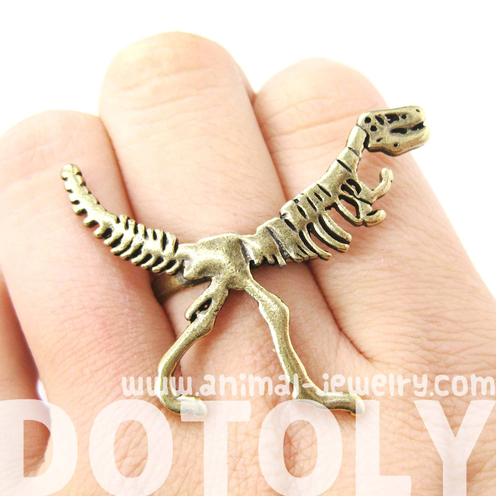 t-rex-dinosaur-fossil-skeleton-bones-adjustable-ring-in-brass