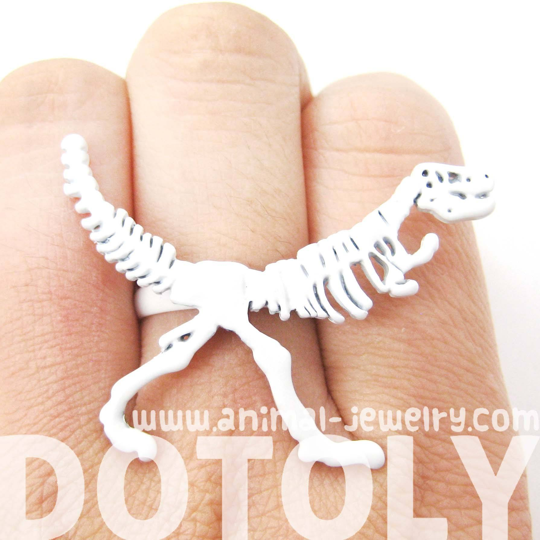 t-rex-dinosaur-fossil-skeleton-bones-adjustable-ring-in-white
