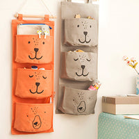 Teddy Bear Wall Hanging Storage Bag Pocket Organizer Rack | DOTOLY