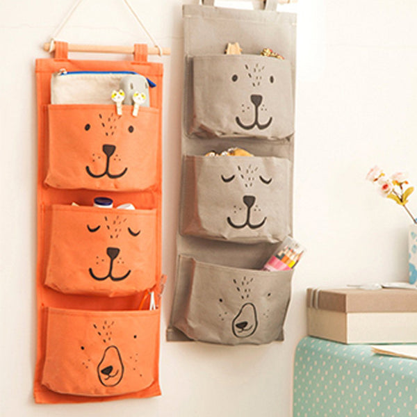 Teddy Bear Wall Hanging Storage Bag Pocket Organizer Rack | DOTOLY | DOTOLY