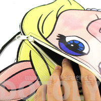 The Muppet Show Miss Piggy Shaped Vinyl Cross Body Bag