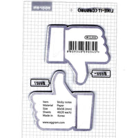 Thumbs Up Like Dislike Memo Adhesive Post-it Note Pad | Stationery
