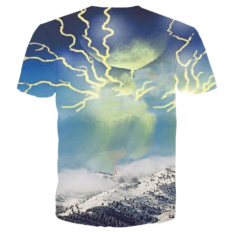 Thundercat Kitty Cat Playing With Lighting Graphic Tee