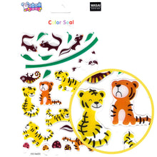 Cute Tiger Skunk Sloth Cartoon Illustrated Animal Jelly Puffy Stickers