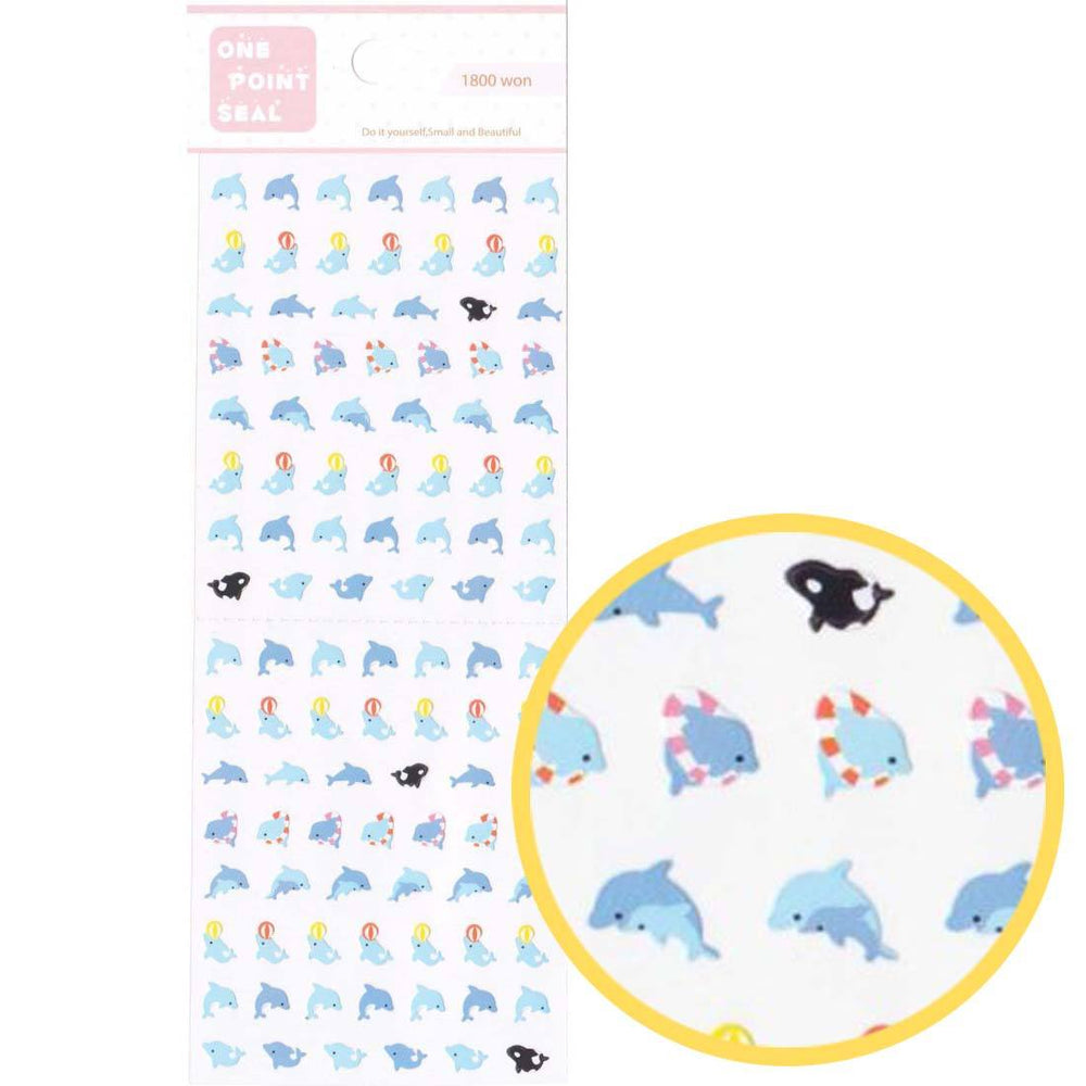 Tiny Dolphins and Killer Whales Shaped Animal Sticker Envelope Seals