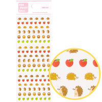 Tiny Hedgehog Porcupine and Apple Shaped Animal Sticker Seals Nail Art