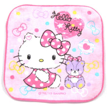 Tiny Hello Kitty and Teddy Bear Polka Dotted Dress Print Face Towel