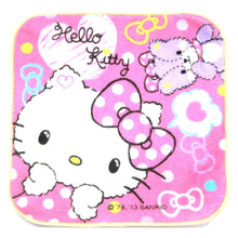 Hello Kitty and Teddy Bear Polka Dotted Print Handkerchief Face Towel