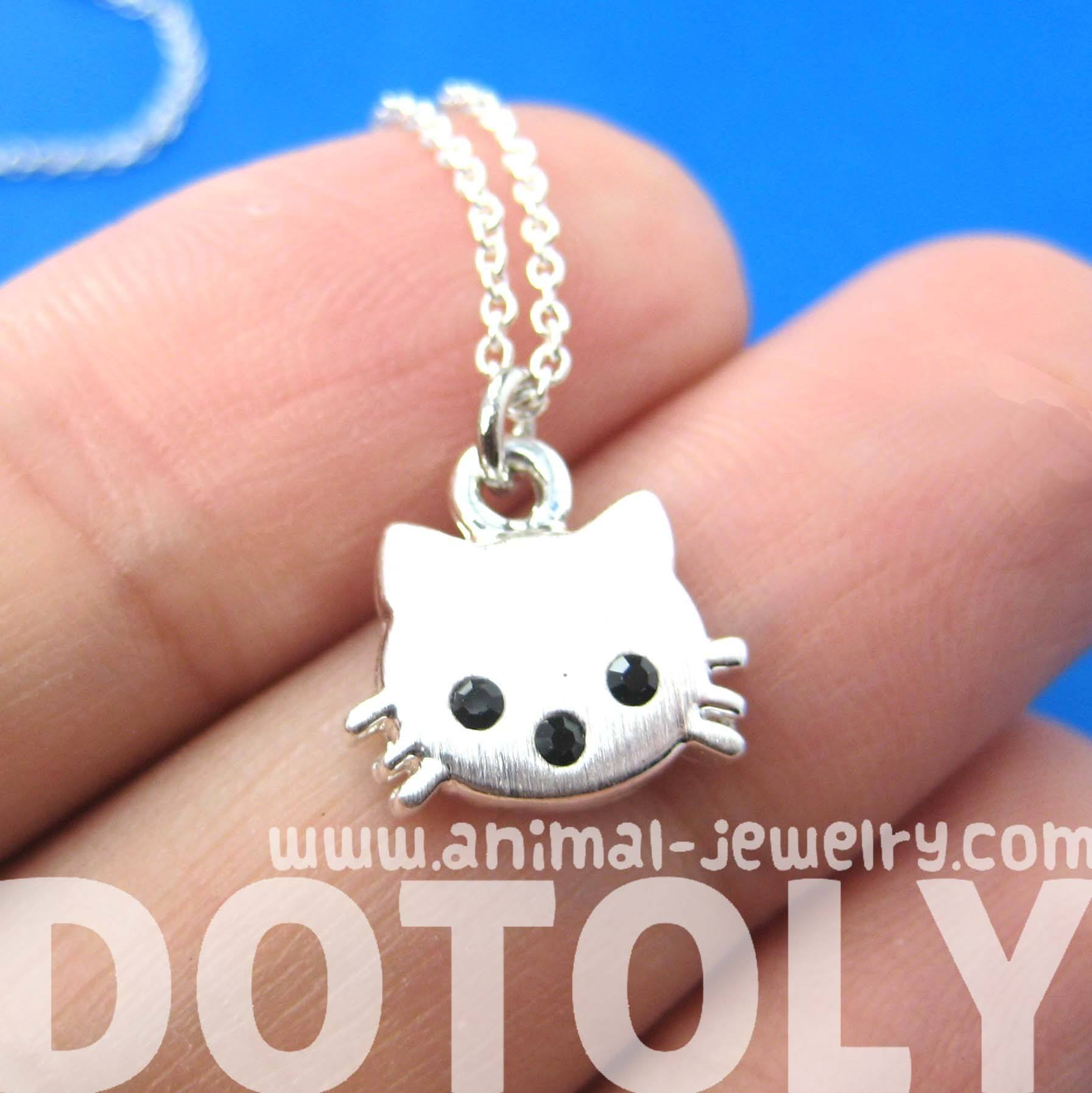 tiny-kitty-cat-shaped-animal-charm-necklace-in-silver-animal-jewelry